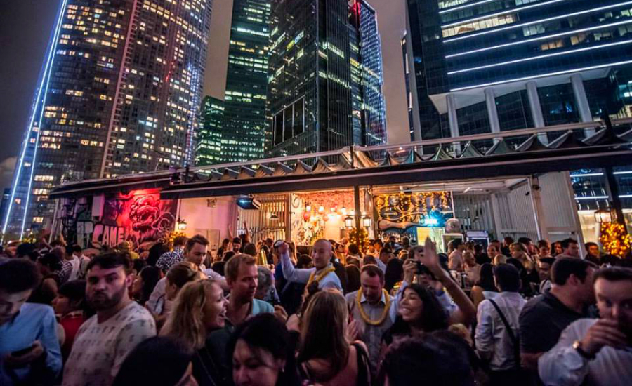 Rooftop bars in Singapore | Party at Kinki