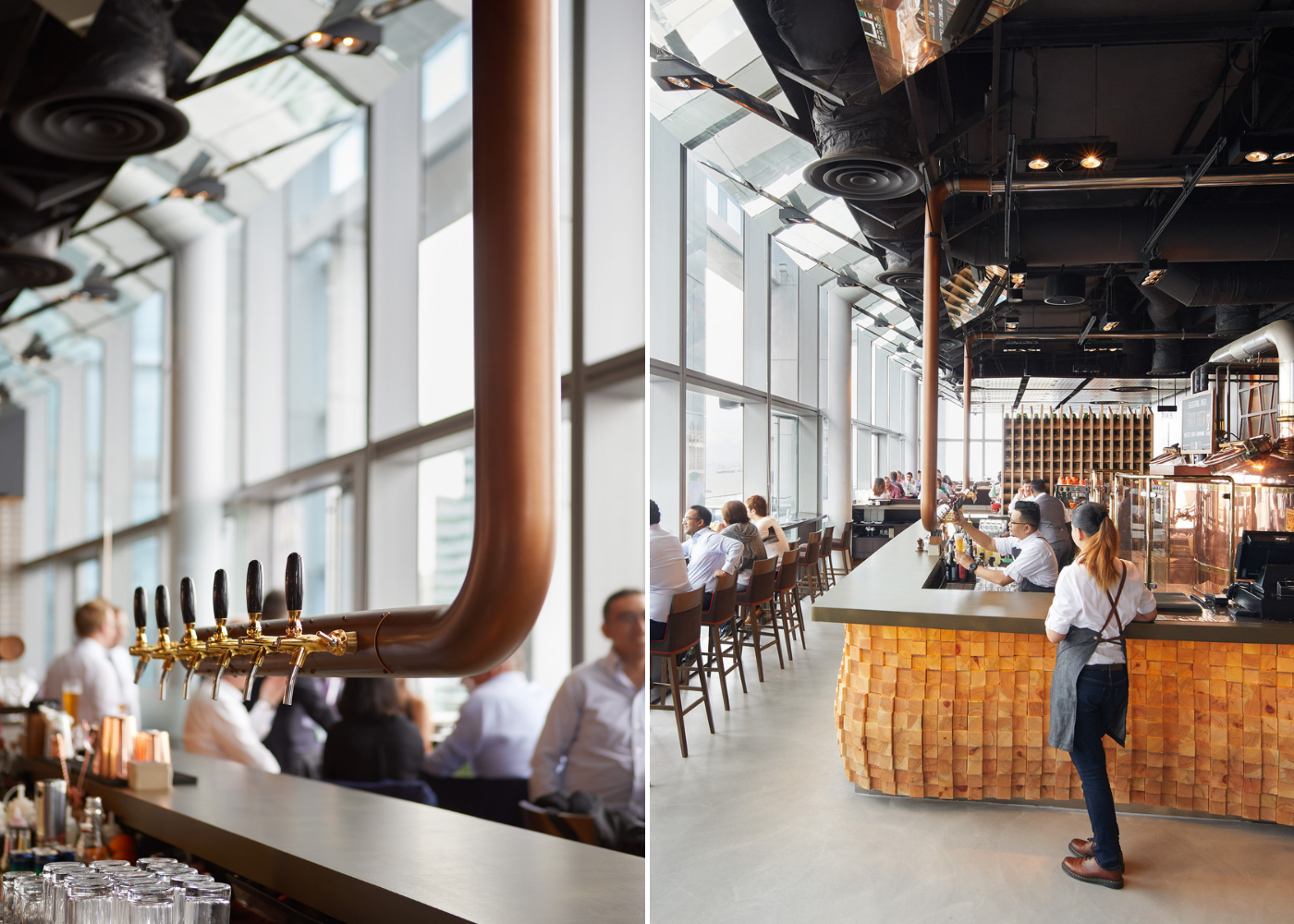 Check out the cool floating beer taps at Level33's revamped new space