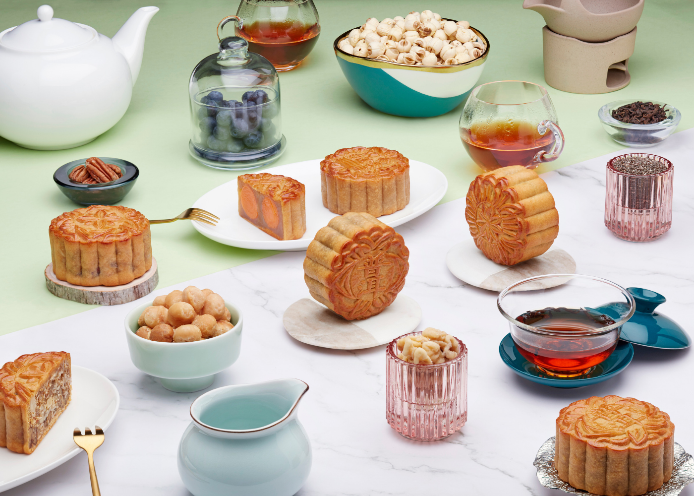 Asian-inspired mooncake flavours at JW Marriott Singapore South Beach