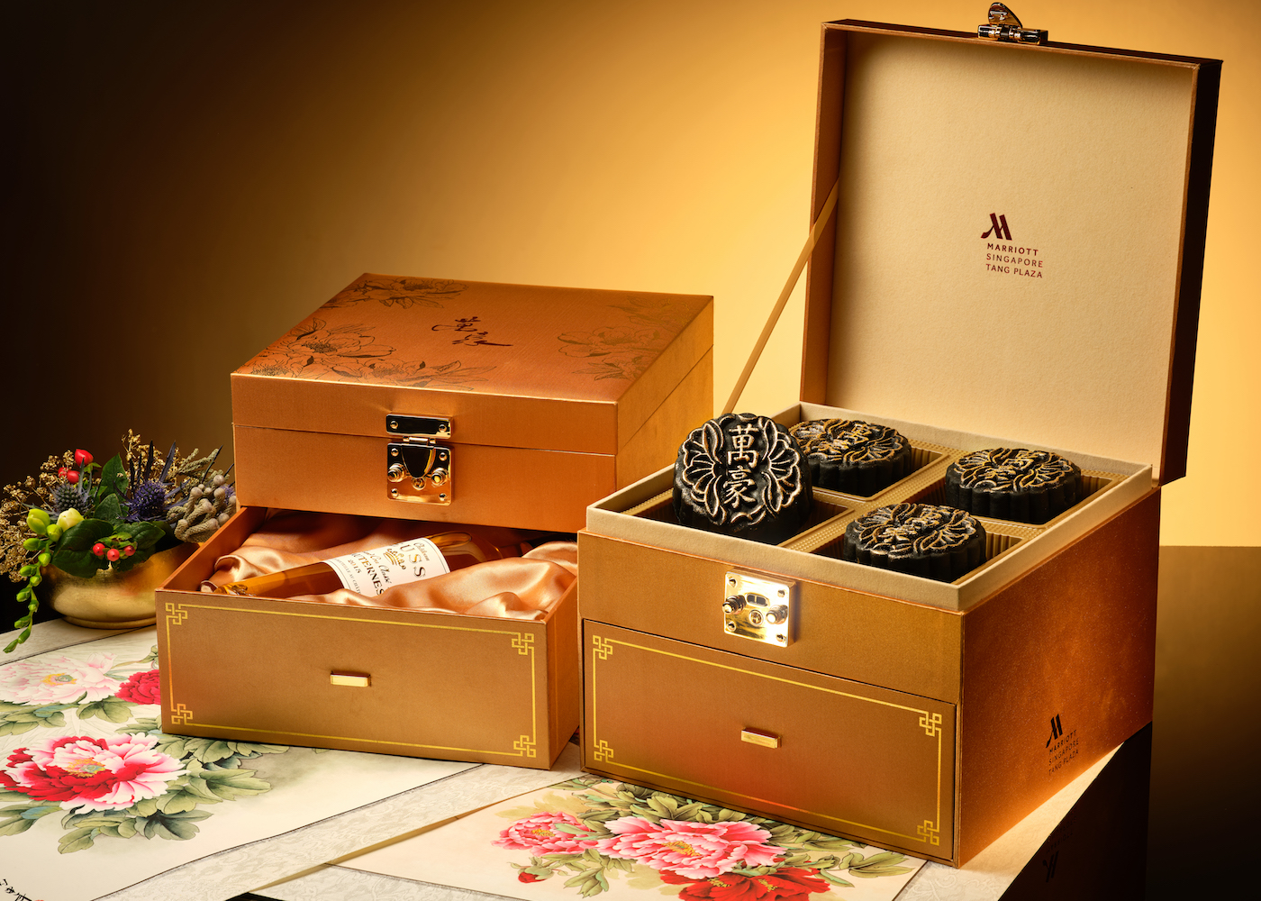 Marriott Tang Plaza Hotel's limited edition Wan Hao premium gift set | Mooncakes in Singapore