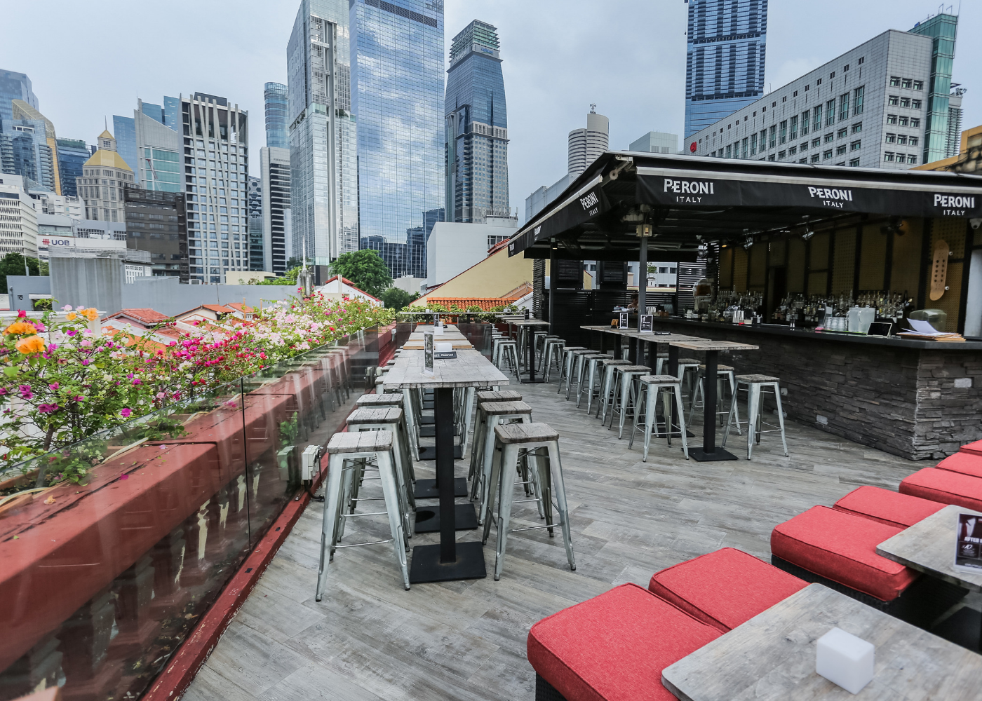 The Screening Room is a rooftop bar in Chinatown