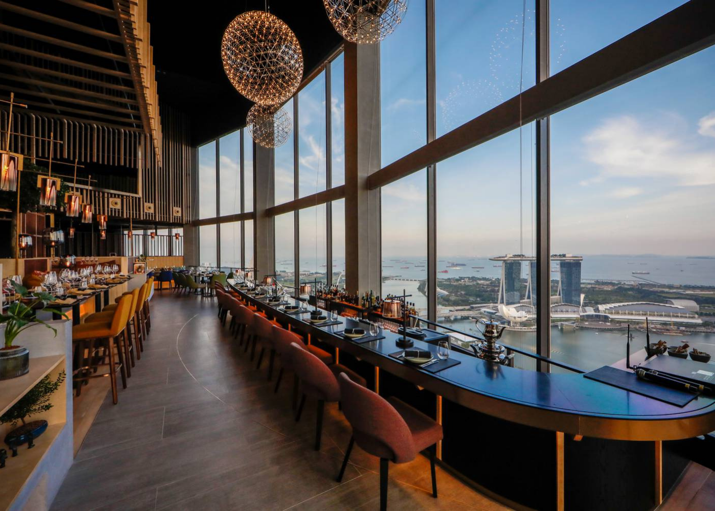 Enjoy a drink, 70 floors up at Skai Bar