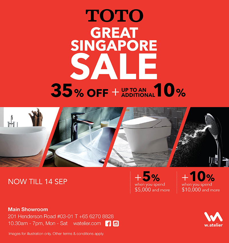TOTO Great Singapore Sale 2019