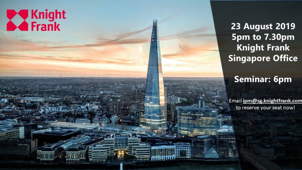 Friday after-hours drinks & London Property Market Update by Knight Frank
