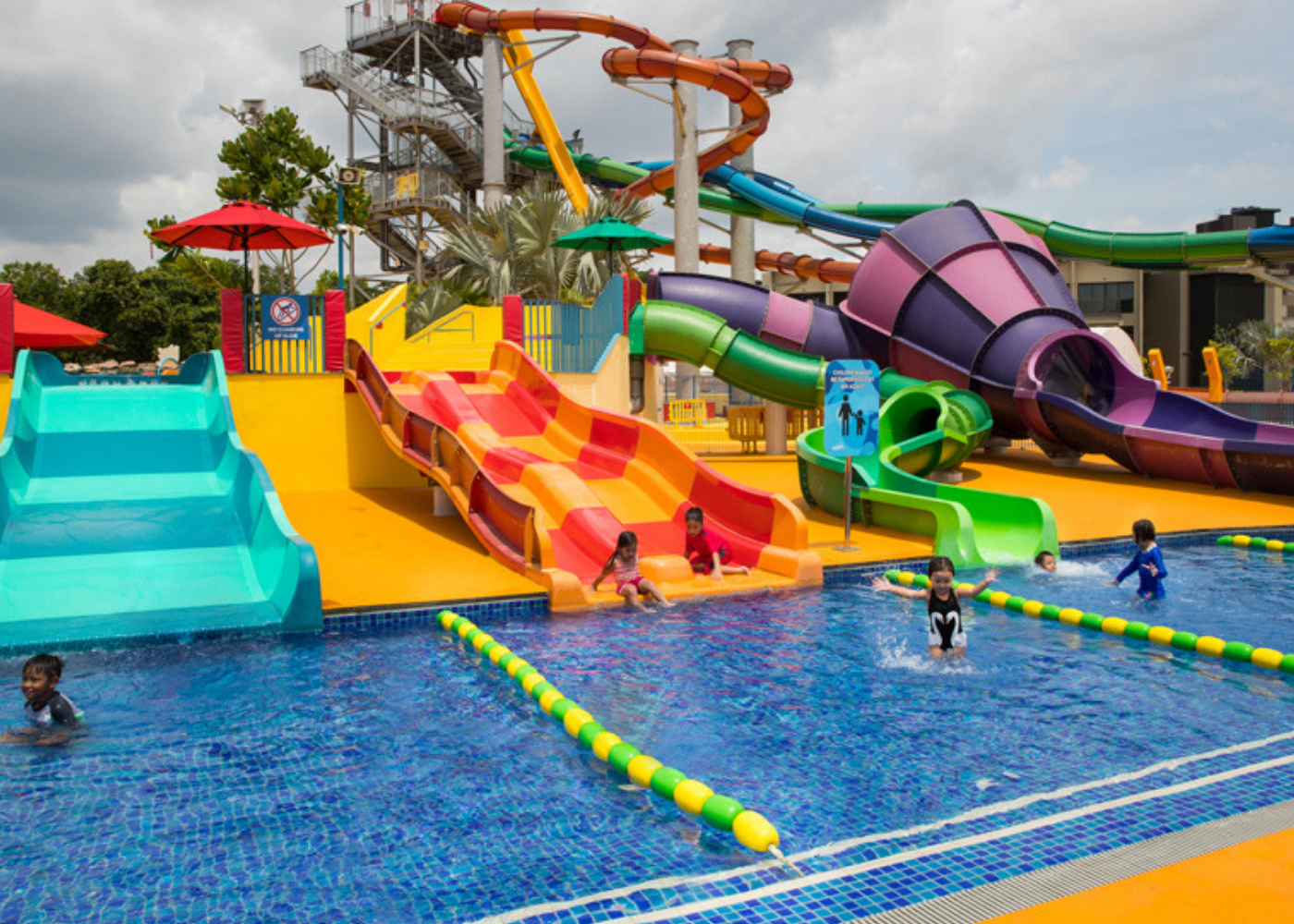 Water park slides and rides