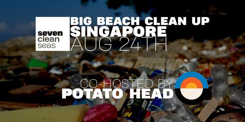 Potato Head Singapore's 5th Anniversary Beach Clean Up by Seven Clean Seas