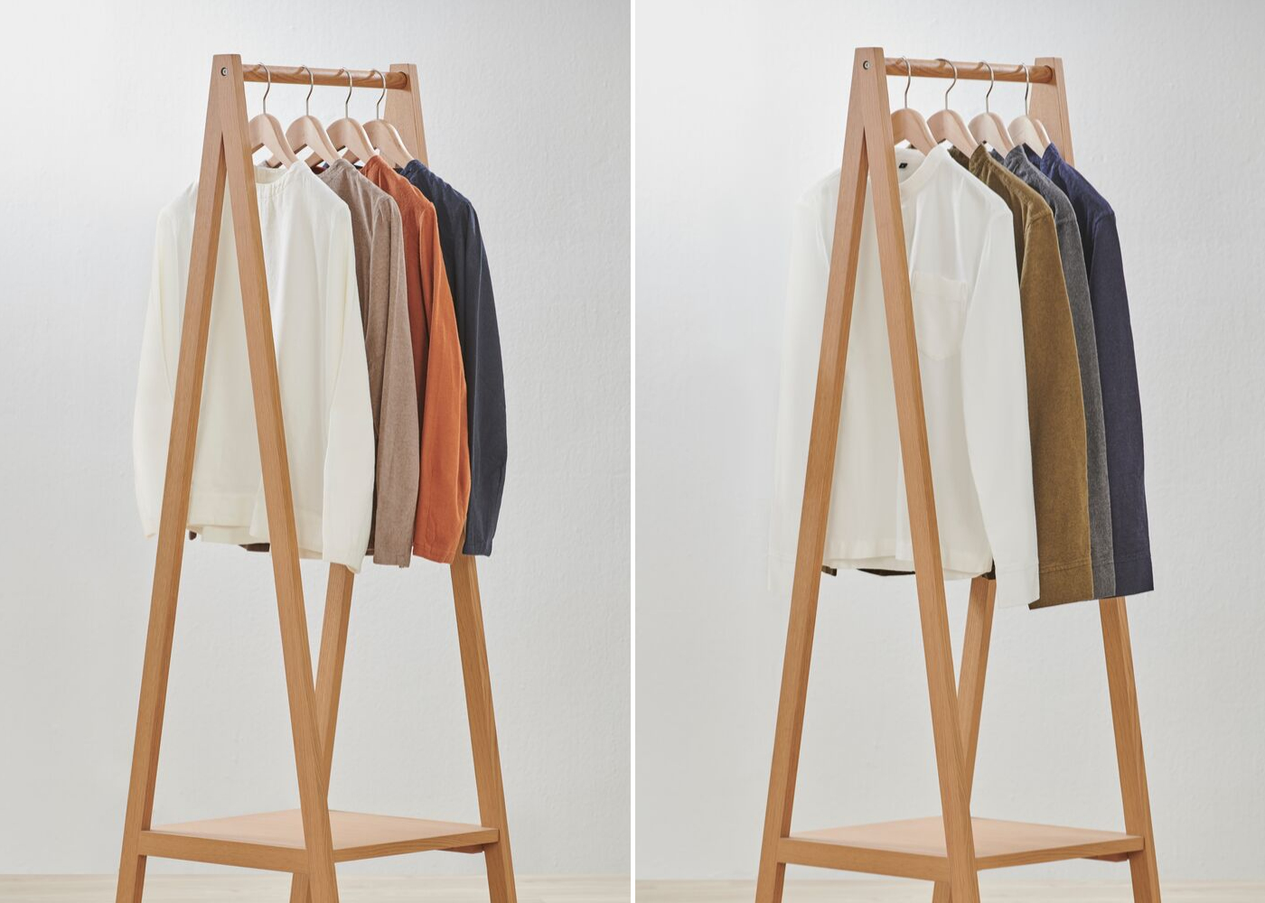 Left: Ladies' XinJiang Cotton Flannel Blouse collection, right: Men's XinJiang Cotton Flannel Stand Collar Shirt collection. (Client to advise) Photography: Muji