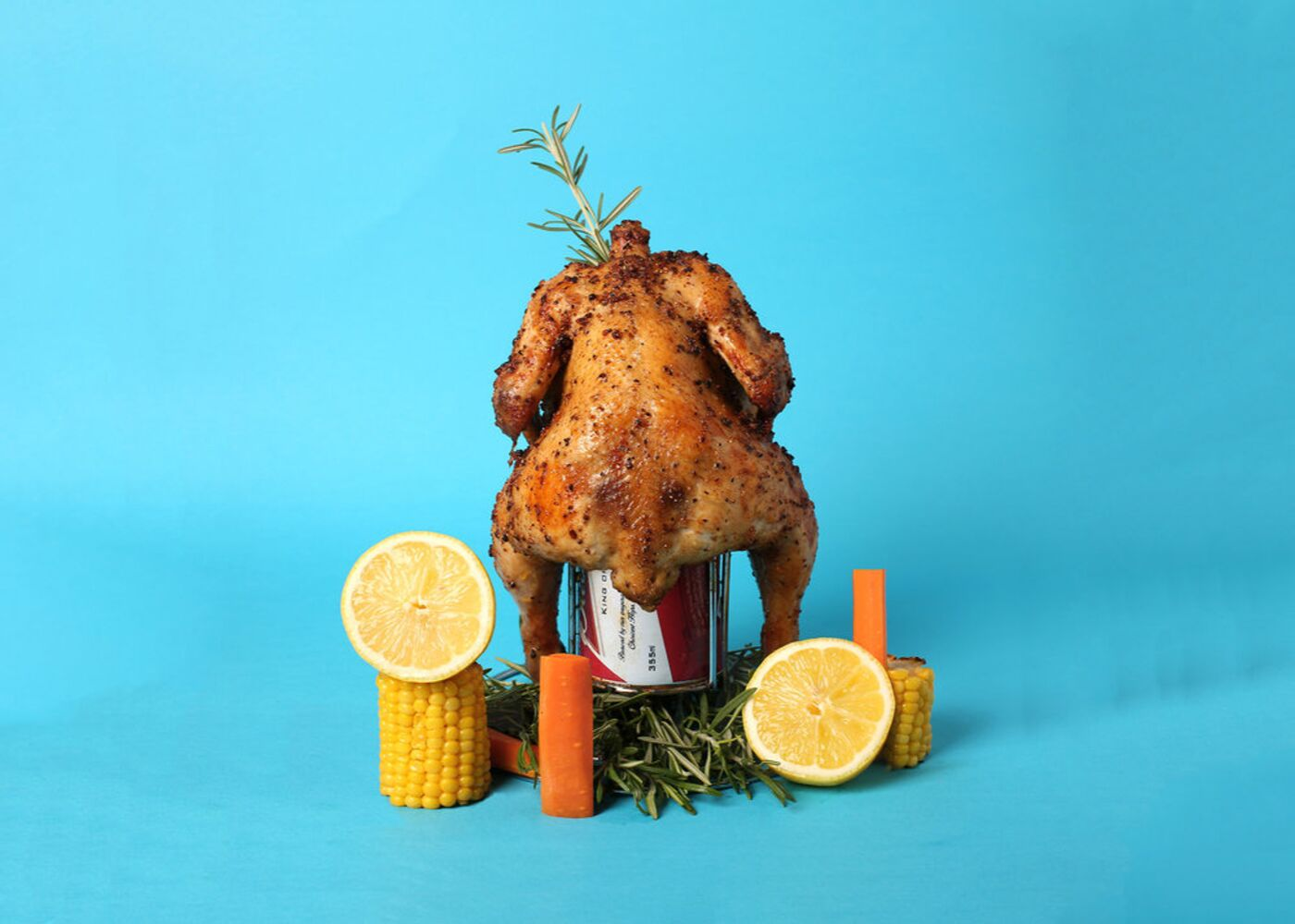 OverEasy's beer can chicken