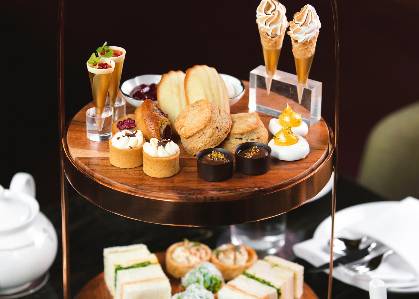 Go for a glamourous high tea at Atlas. Photography: Atlas