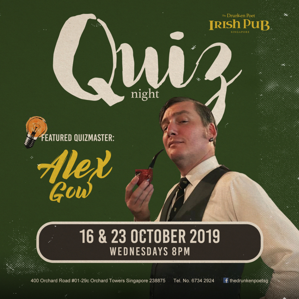 Wednesday Quiz Nights with Alex Gow