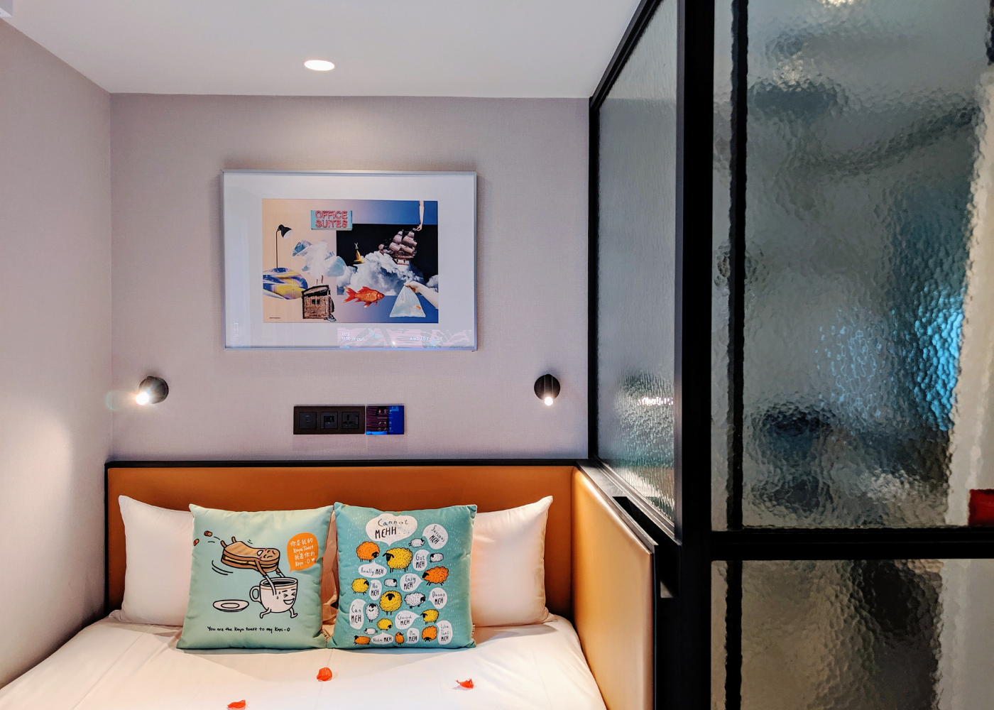 Control the mood lighting by your bed. Photography: Amelia Ang