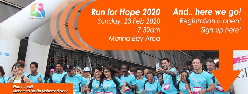 Run for Hope 2020 By National Cancer Centre Singapore (NCCS) & Four Seasons Hotel Singapore