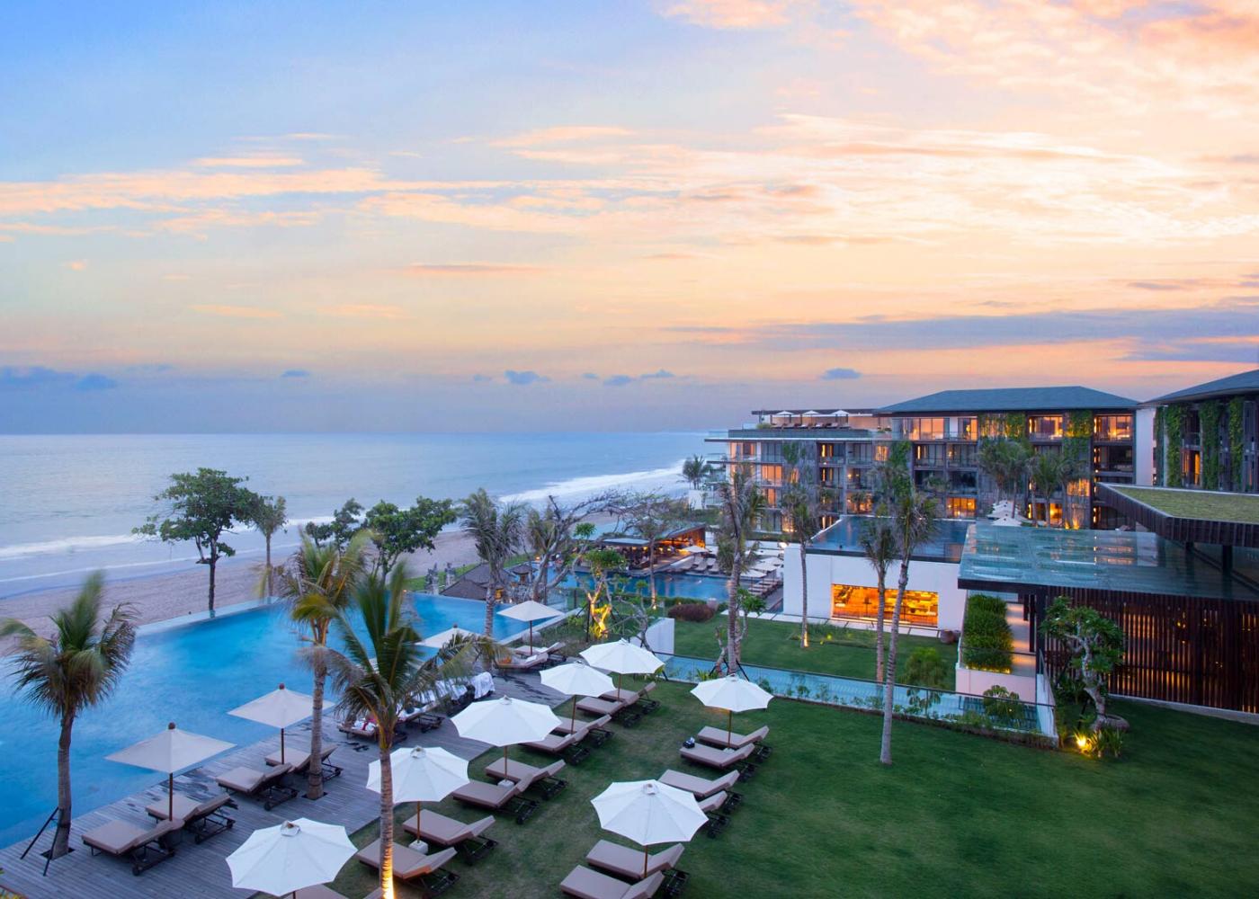 beachfront pool resort bali