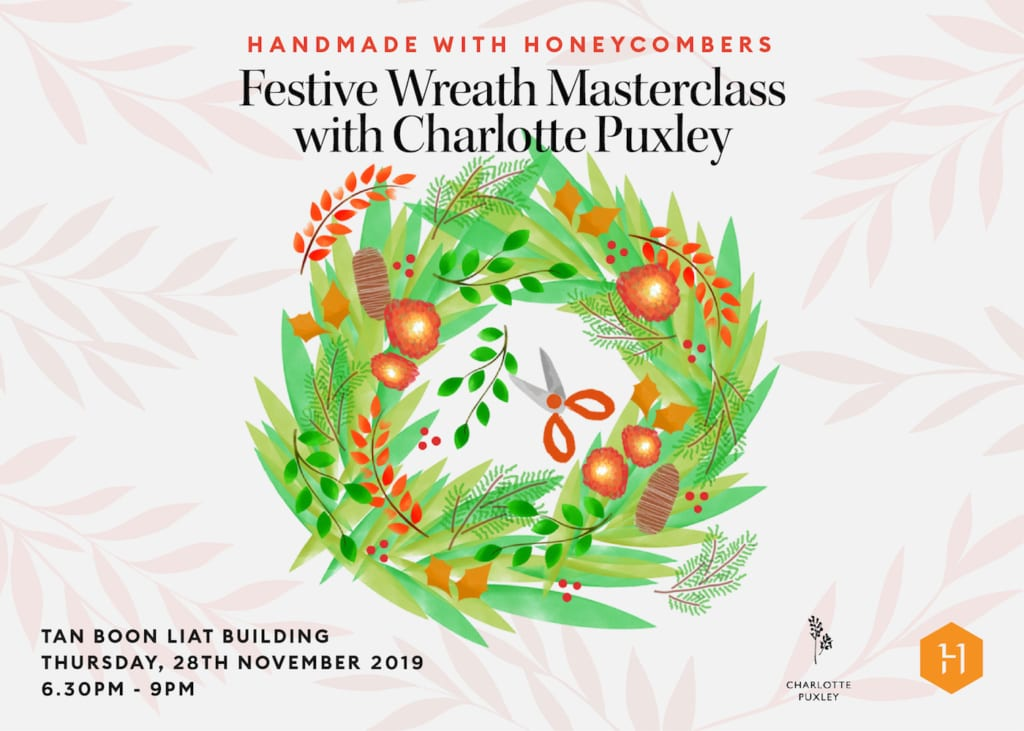 Handmade with Honeycombers: Festive Wreath Masterclass with Charlotte Puxley