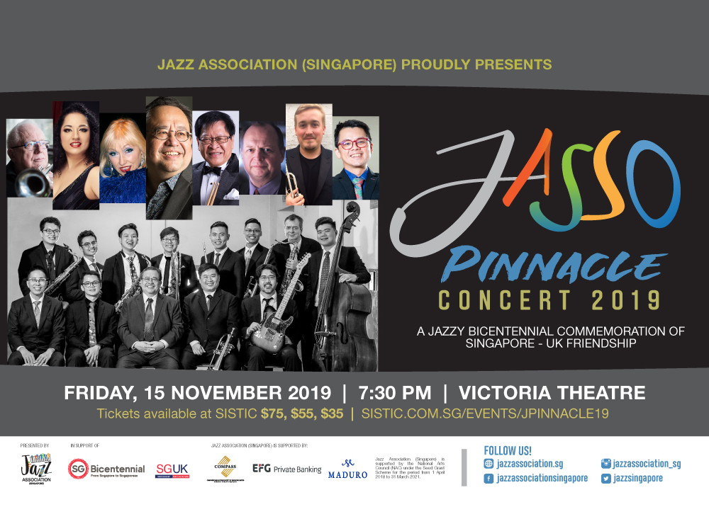 Pinnacle Concert 2019: A Jazzy Bicentennial Commemoration of Singapore-UK Friendship