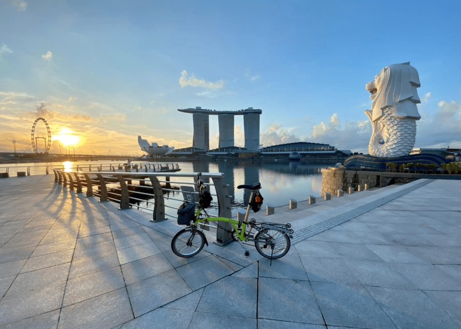 merlion park | sunrise in singapore