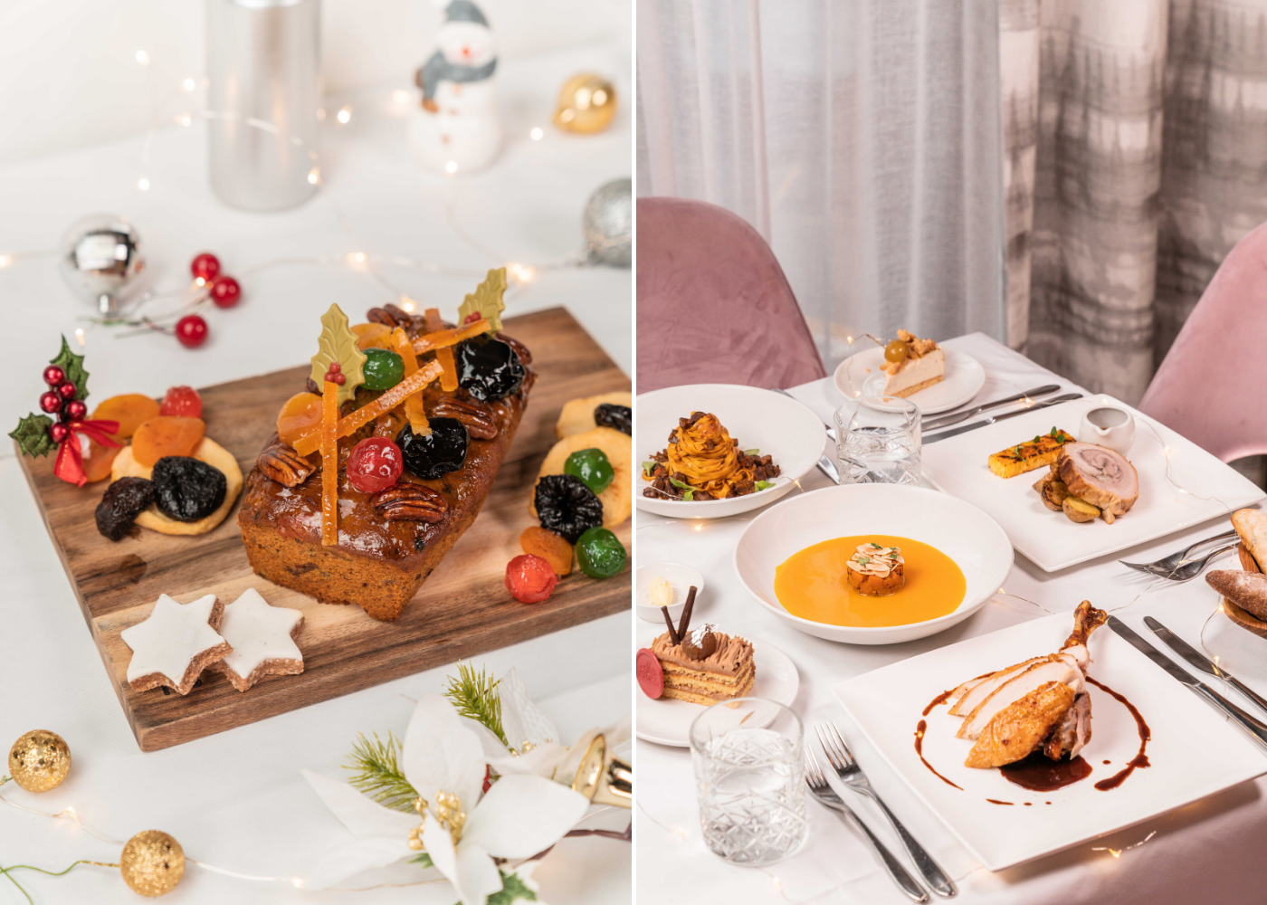 Festive menus and Christmas buffets