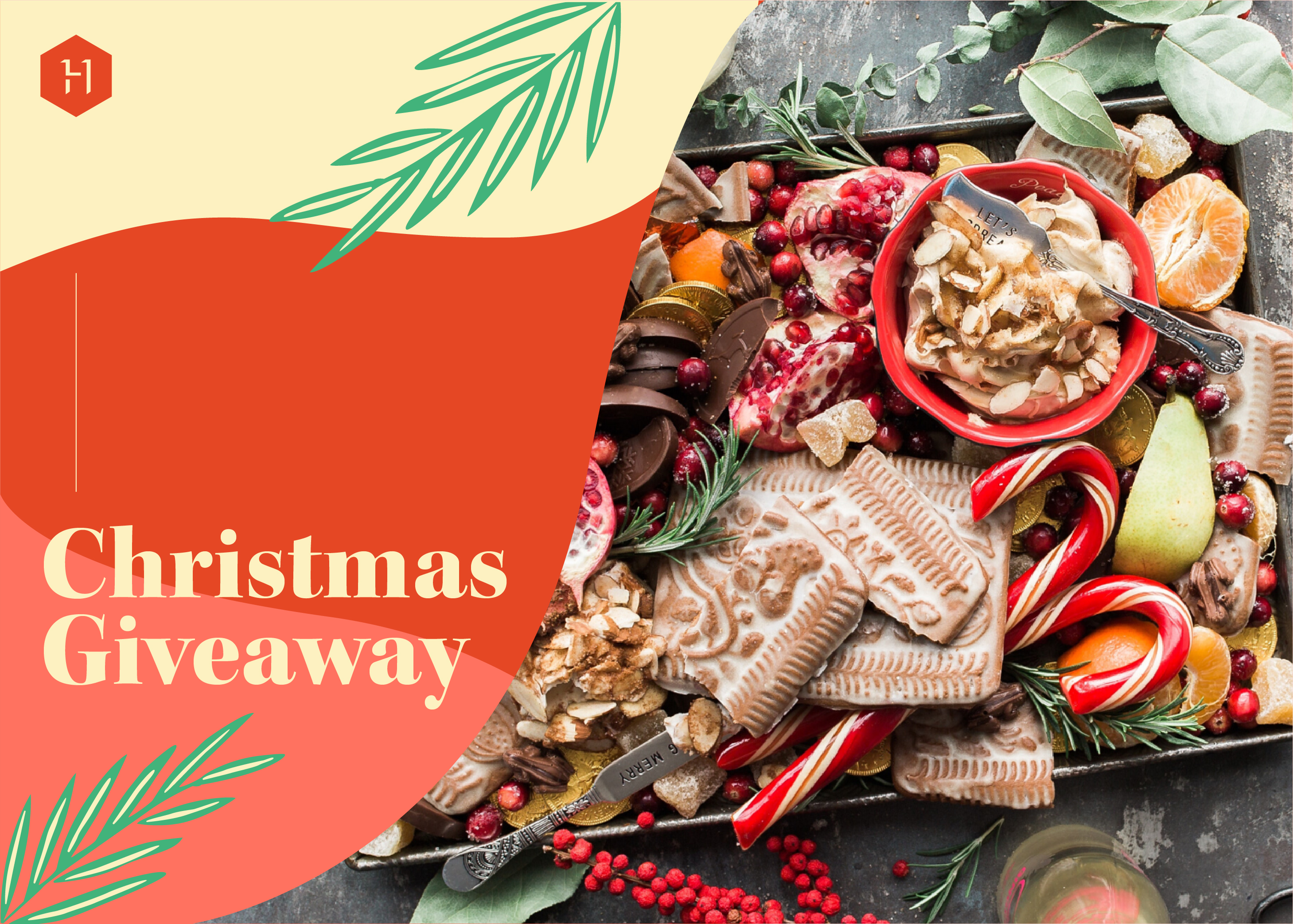 christmas giveaway festive food