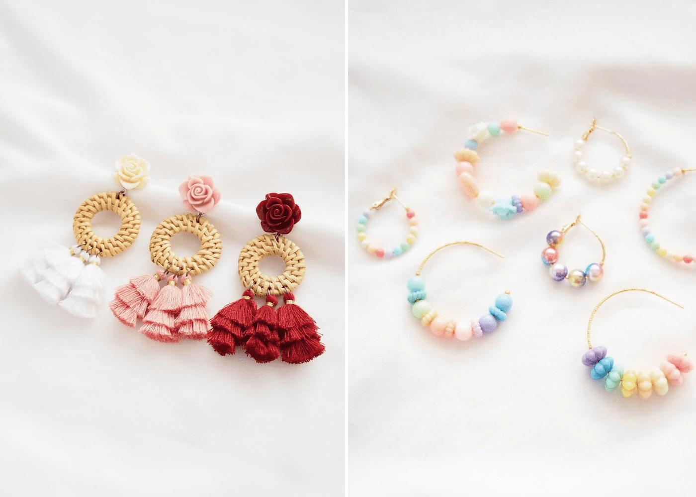 modelle statement earrings