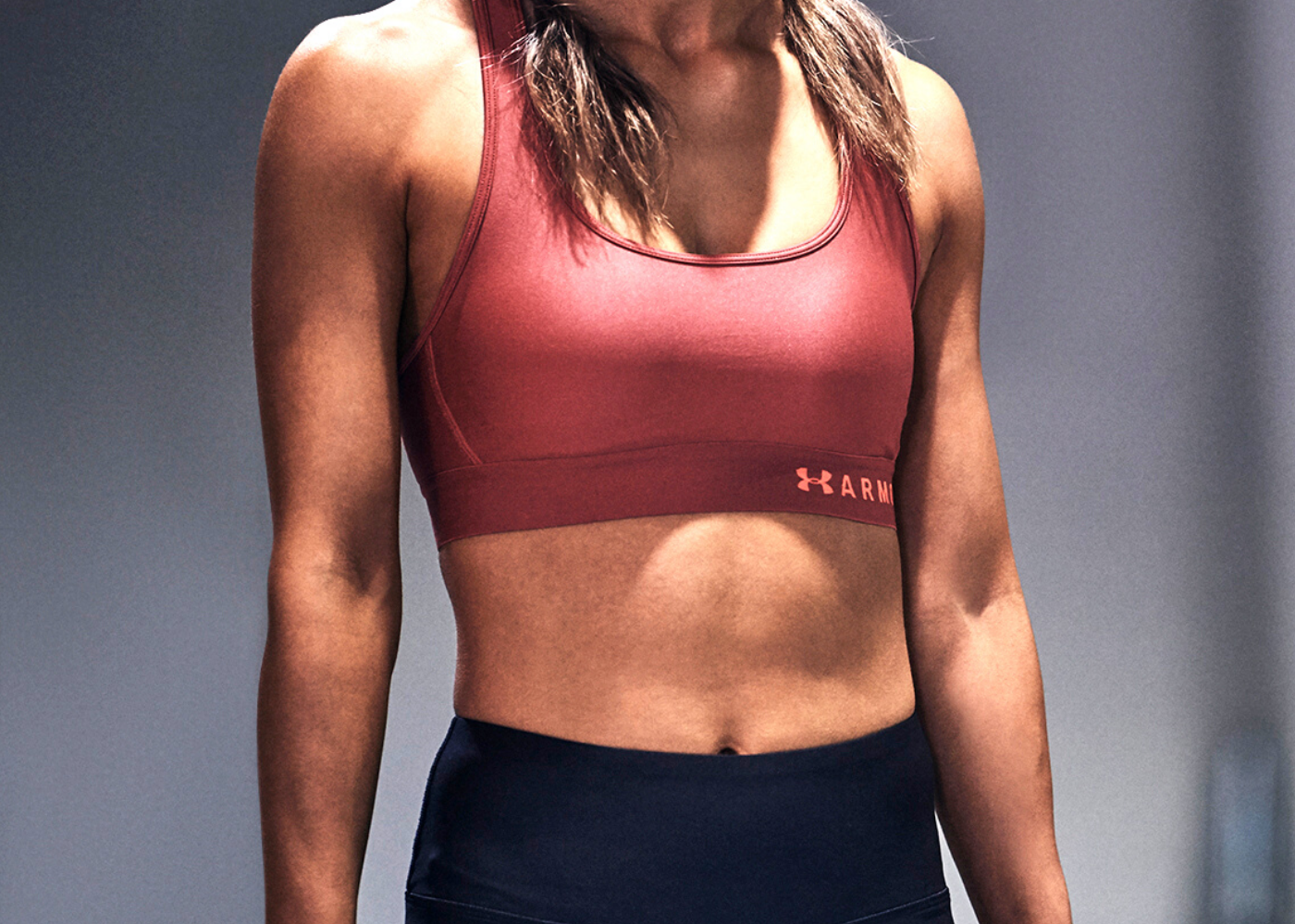 Women's Armour Mid Crossback Sports Bra. Photography: Under Armour