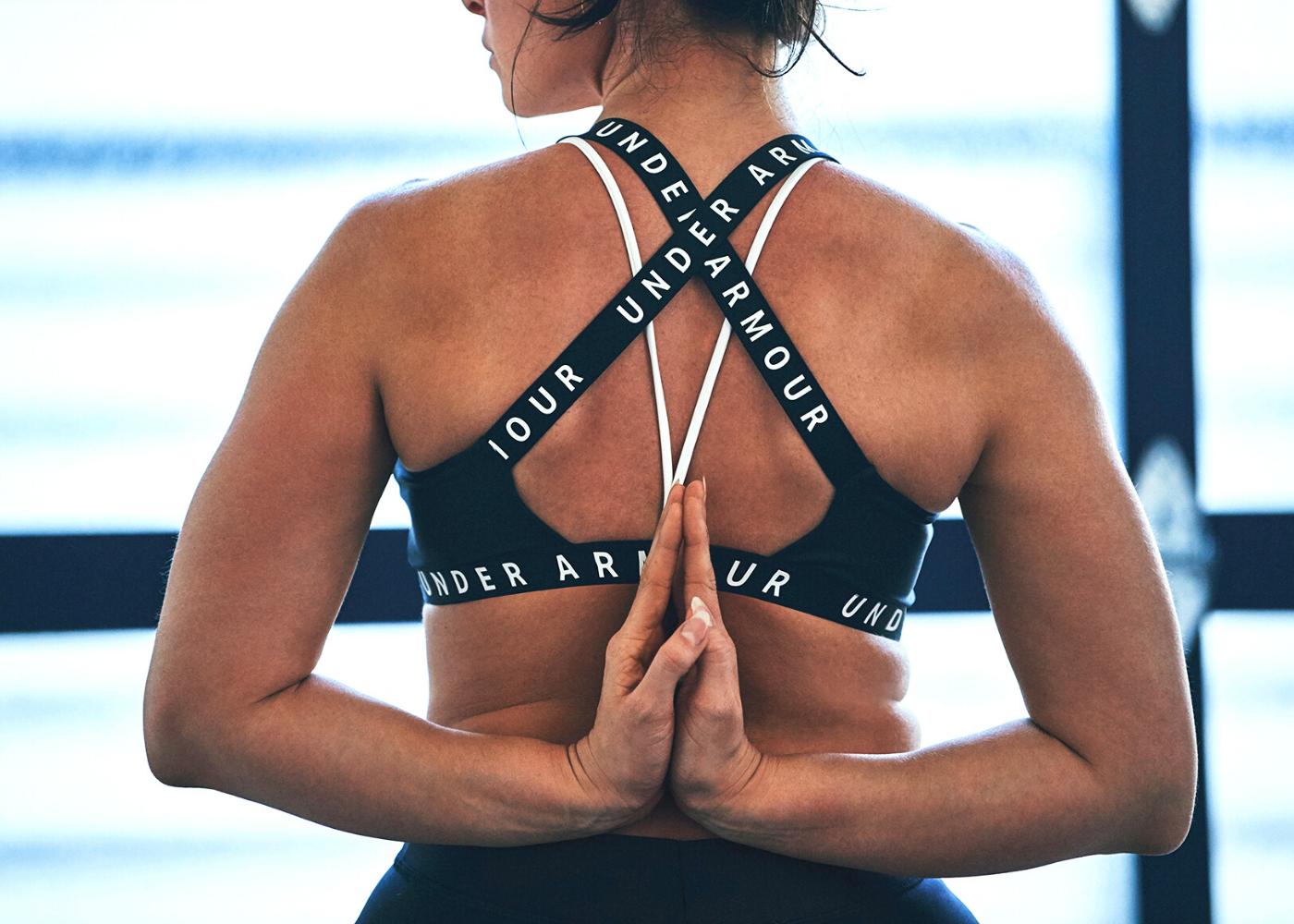 Women's UA Wordmark Strappy Sports Bralette Bra. Photography: Under Armour