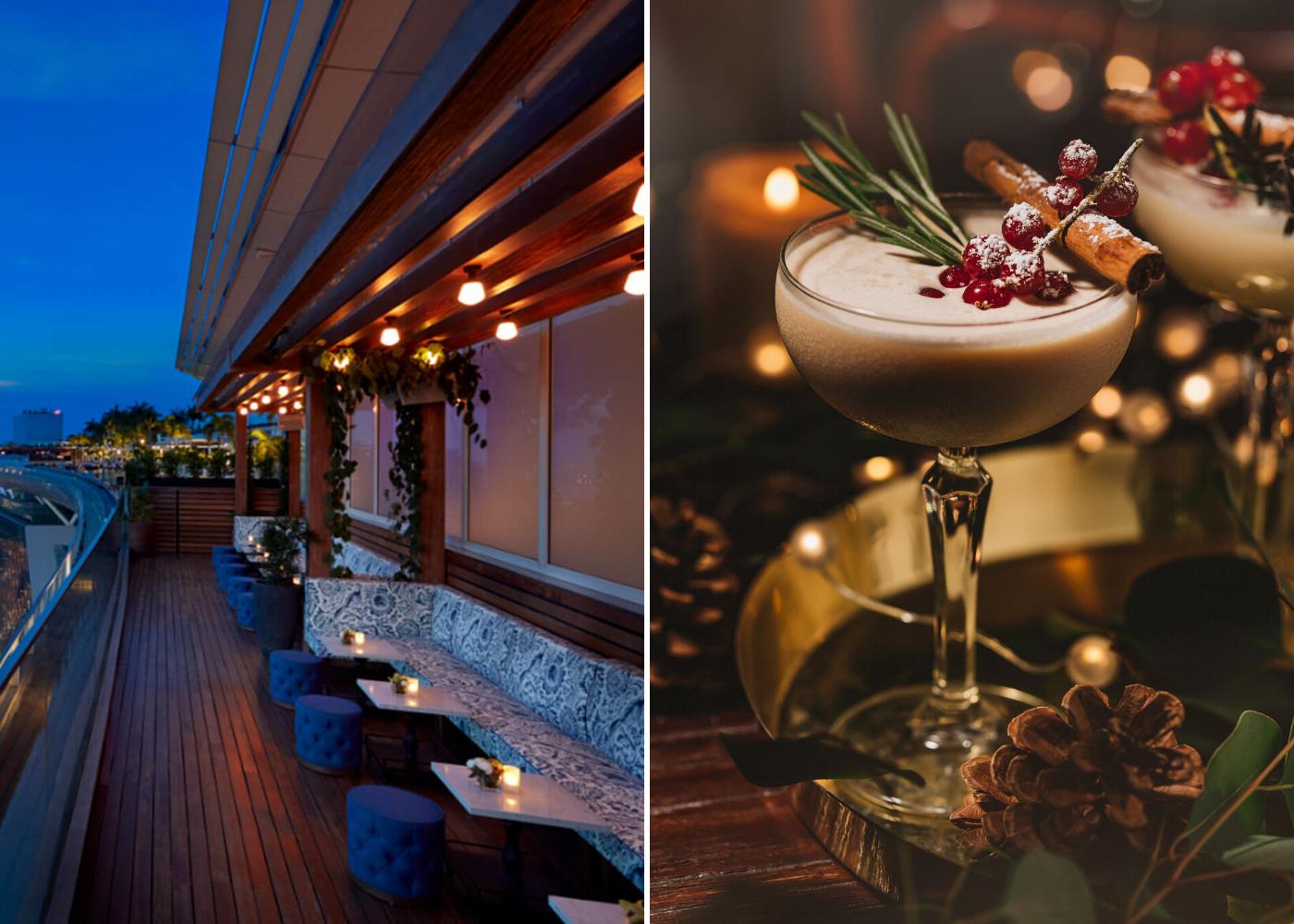 Eggnog Martini at Lavo Italian Restaurant And Rooftop Bar