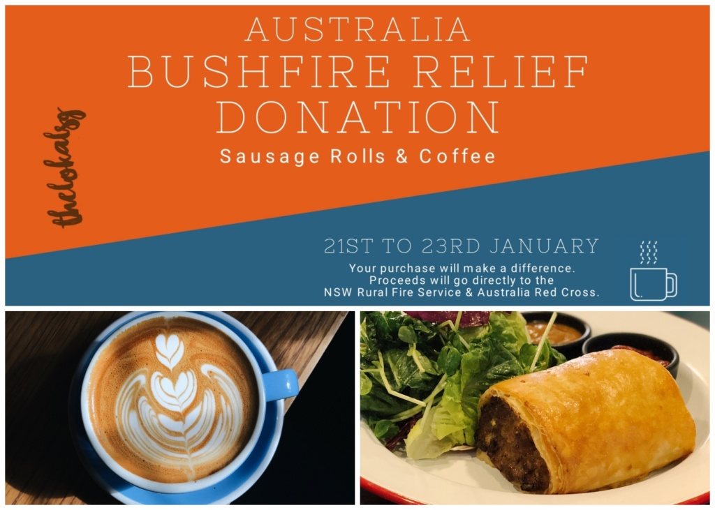 Australia Bushfire Relief Donation: Coffee & Sausage Rolls