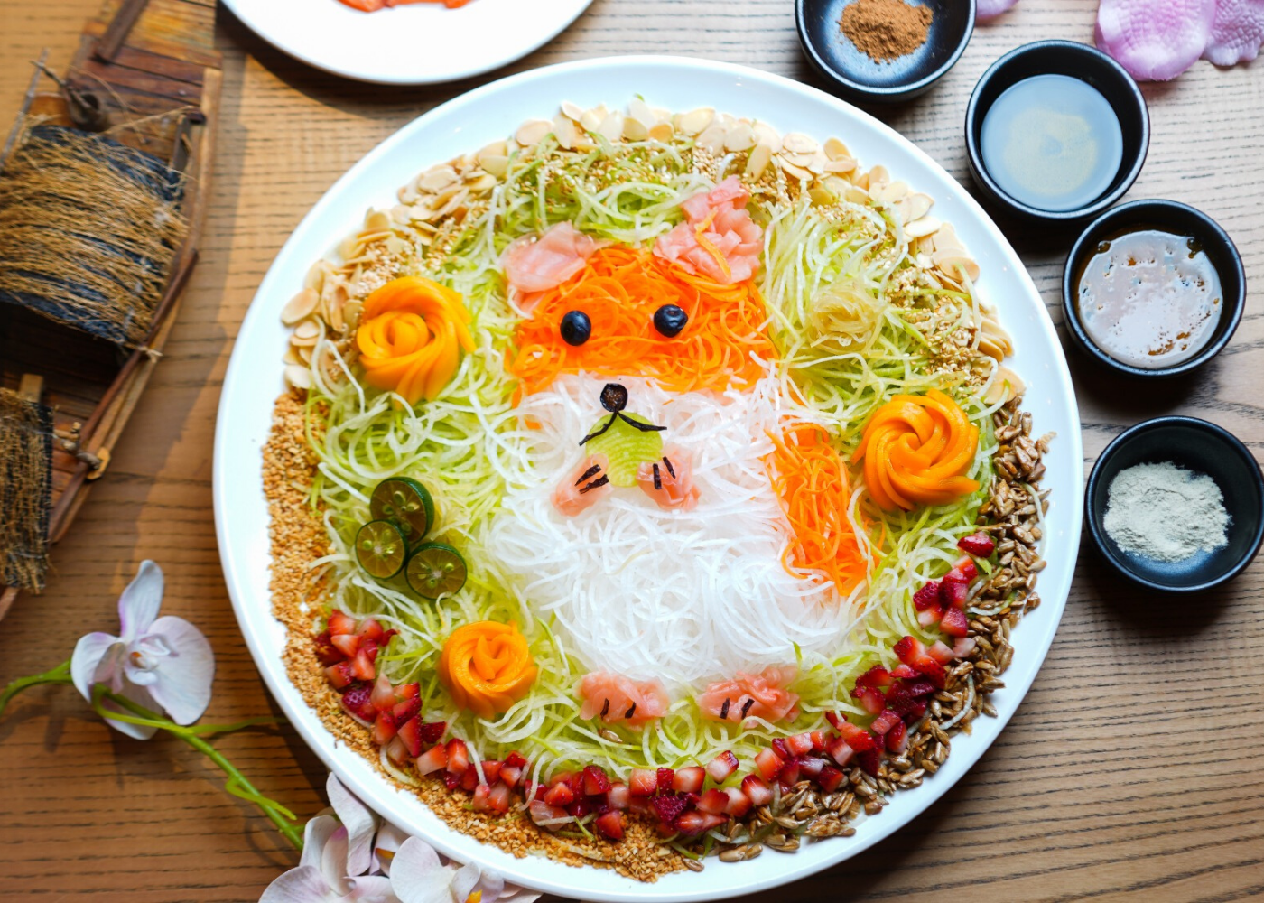 Unusual yusheng? You betcha! Try lo hei with alternatives like sakura ebi, Thai green papaya and unagi