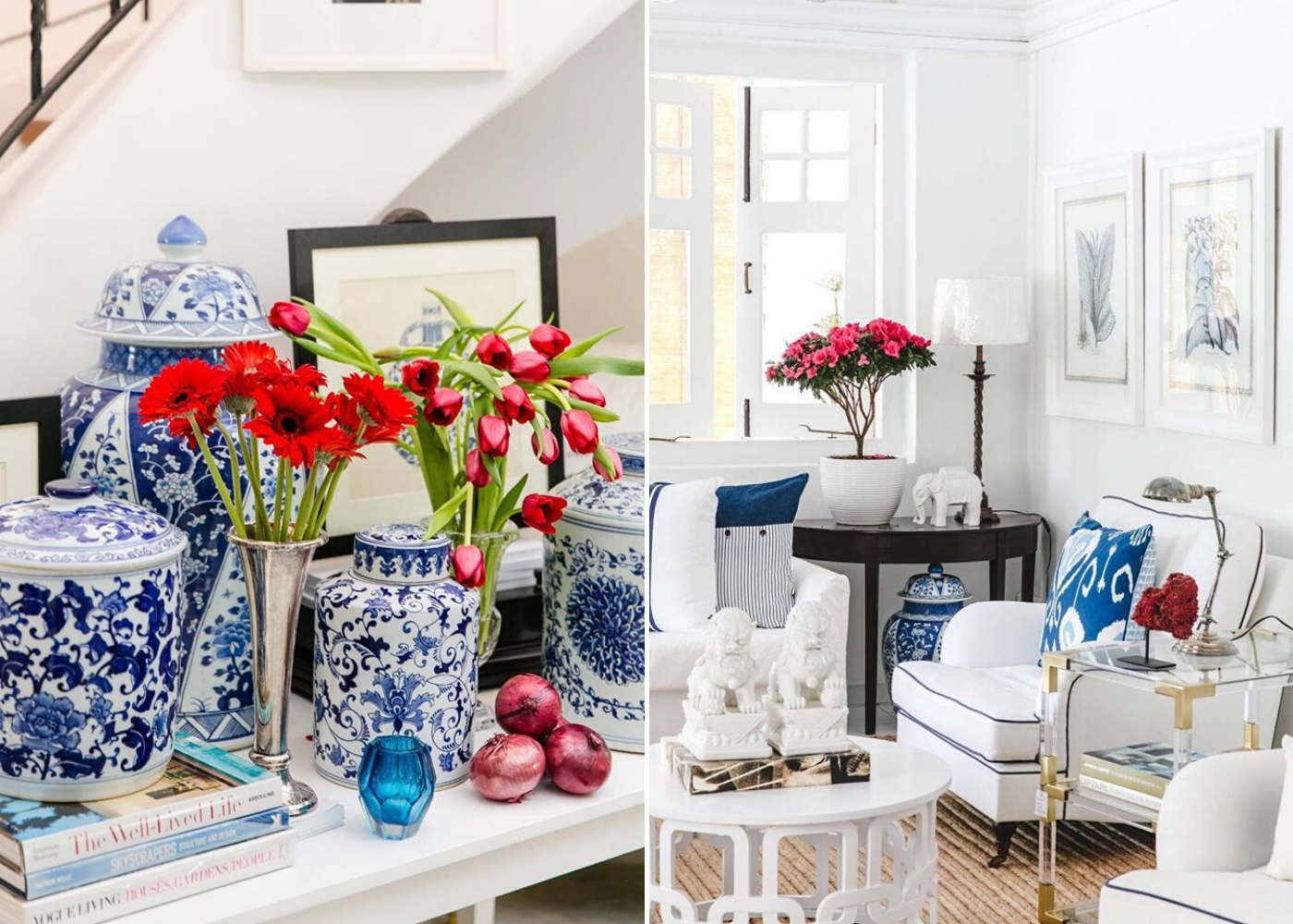 Blue & white delight: Chinoiserie style for a touch of chic at home