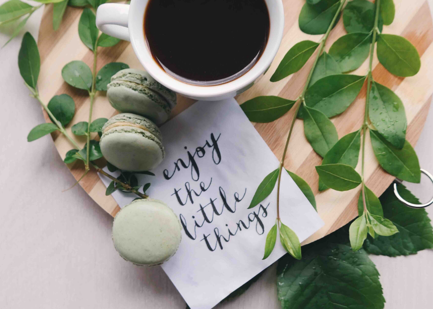 enjoy the little things coffee