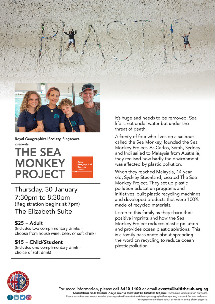 Royal Geographical Society Singapore presents The Sea Monkey Project
