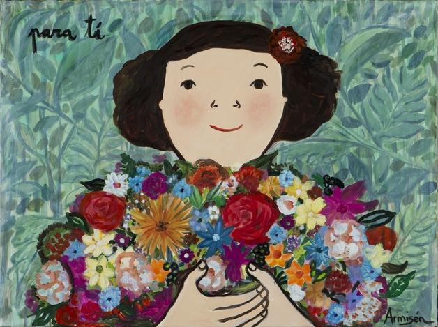 Spanish artist Eva Armisen's first exhibition in Singapore: Love Stories