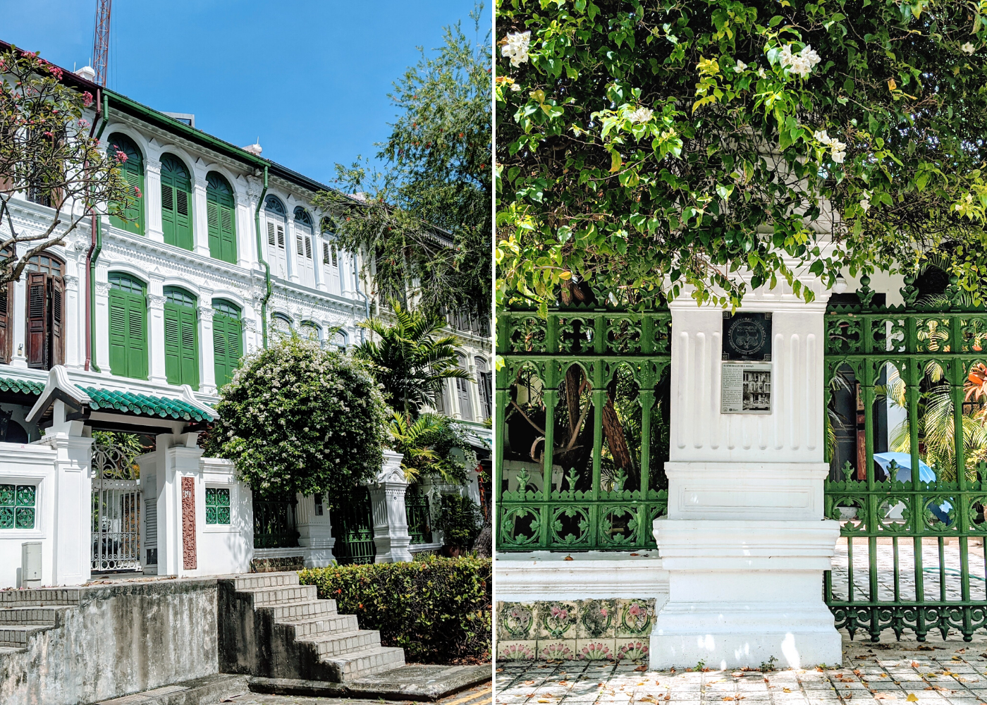 Traditional terrace houses at Emerald Hill