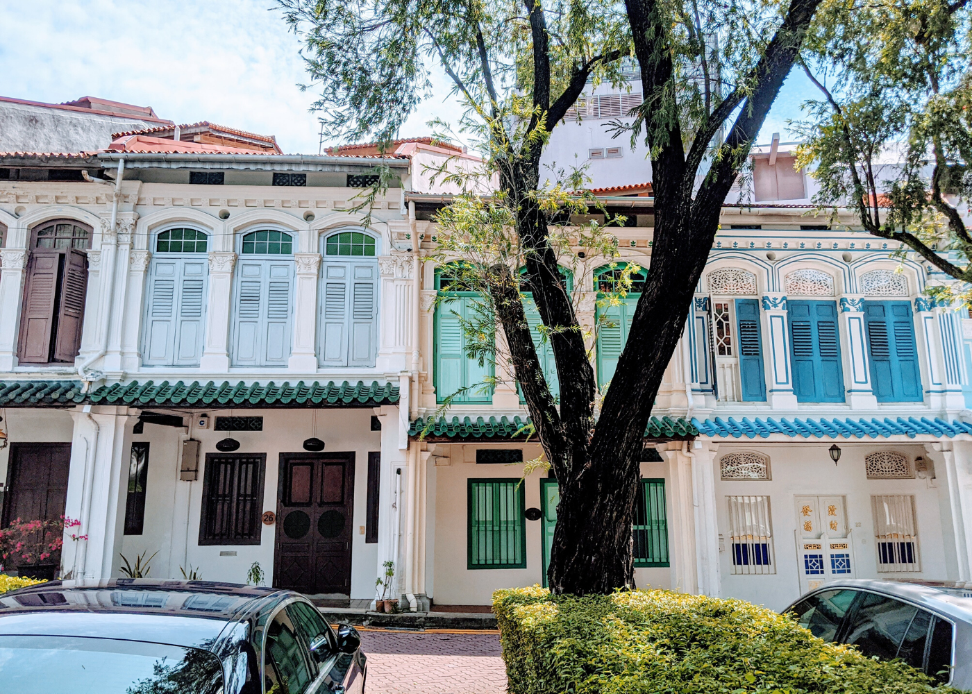 Peranakan shophouses in Singapore | Guide to Emerald Hill