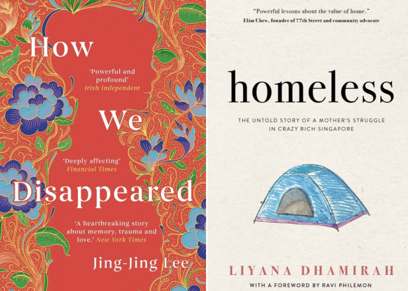How We Disappeared by Jing-Jing Lee | Homeless by Liyana Dhamirah | Honeycombers Book Club