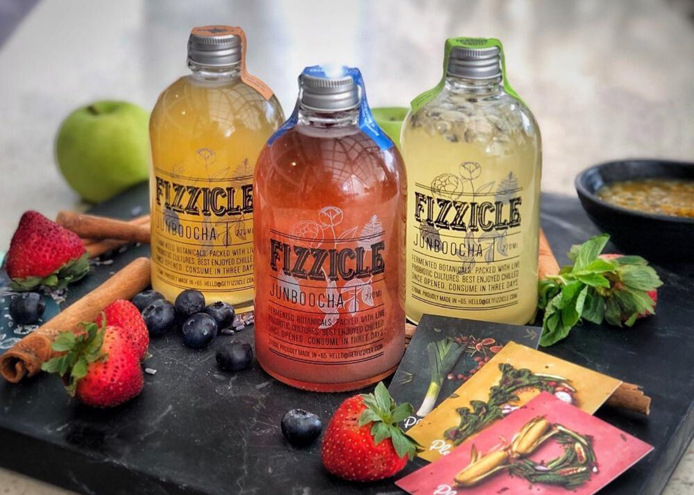 Kefir and kombucha in Singapore: Fizzicle
