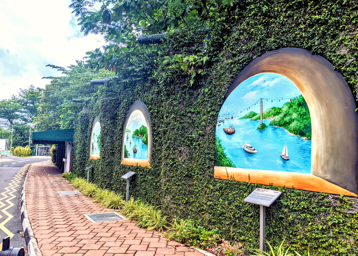 Our guide to Fort Siloso: Go mural spotting!