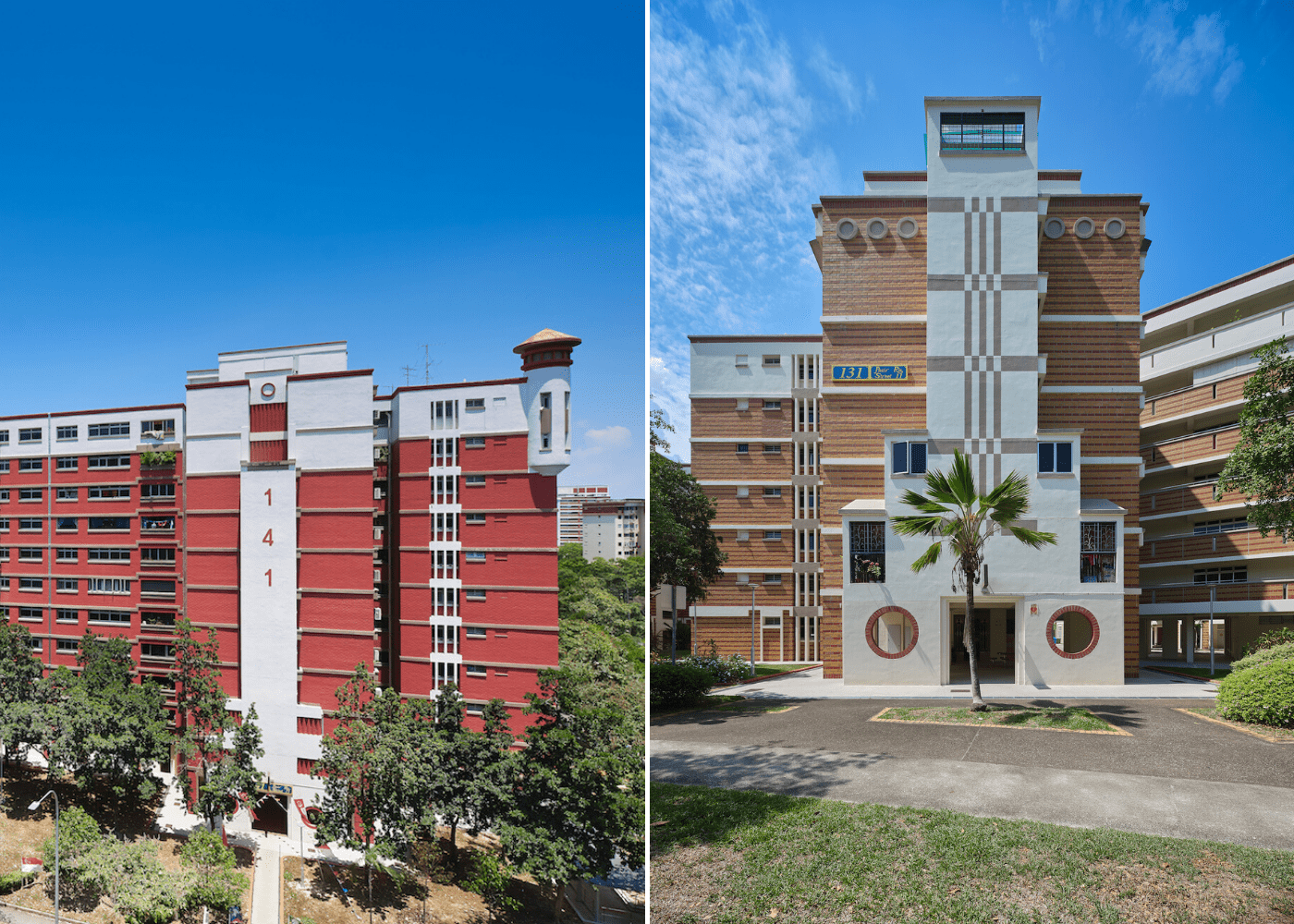 Maritme themed HDB flats in Singapore | Blocks 141 and 130, Pasir Ris Street 11