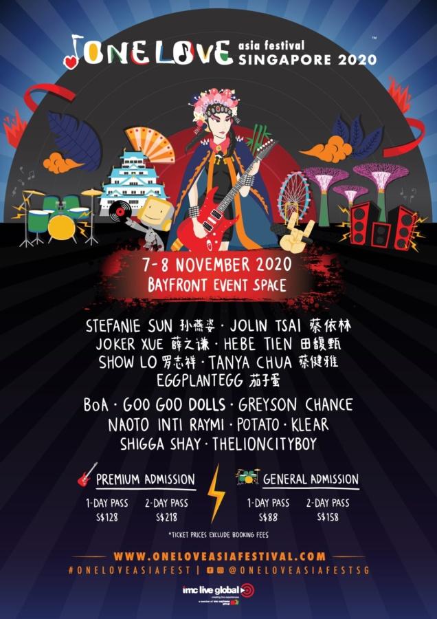 One Love Asia Festival 2020 in Singapore
