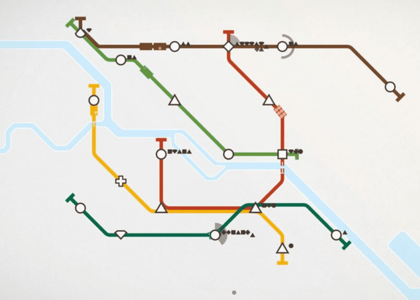 Mobile games: Mini Metro