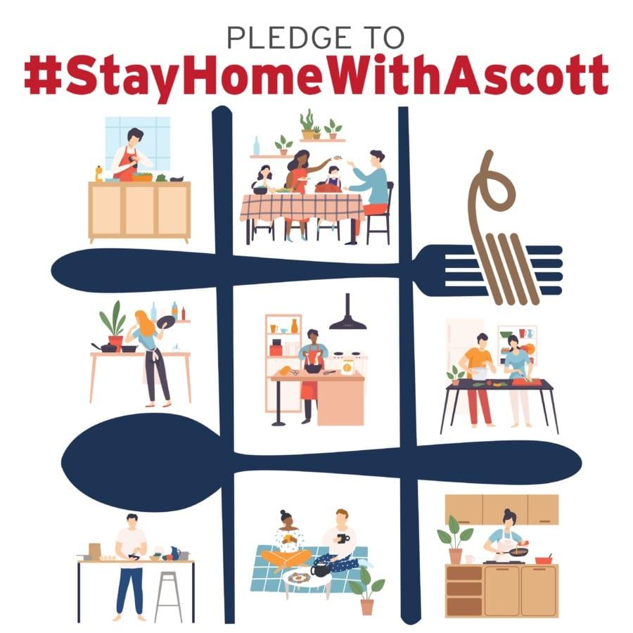#StayHomeWithAscott fundraising programme