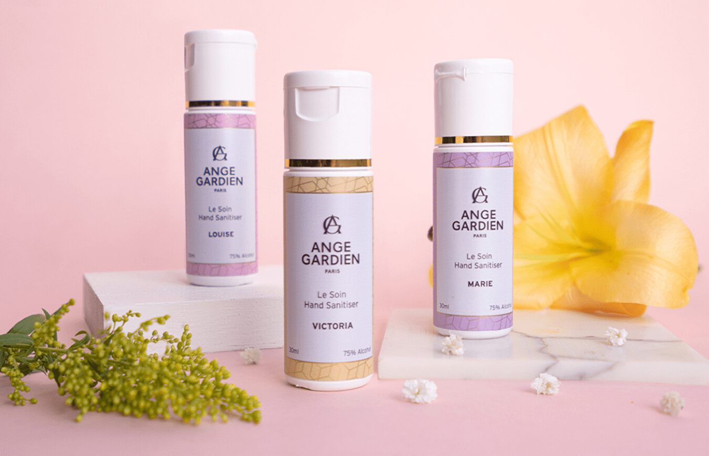 Le Soin Collector's Edition of hand sanitisers by ange gardien paris | Mothers day gift guide