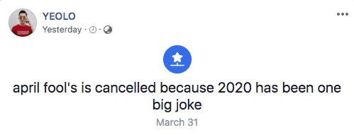 April Fools 2020