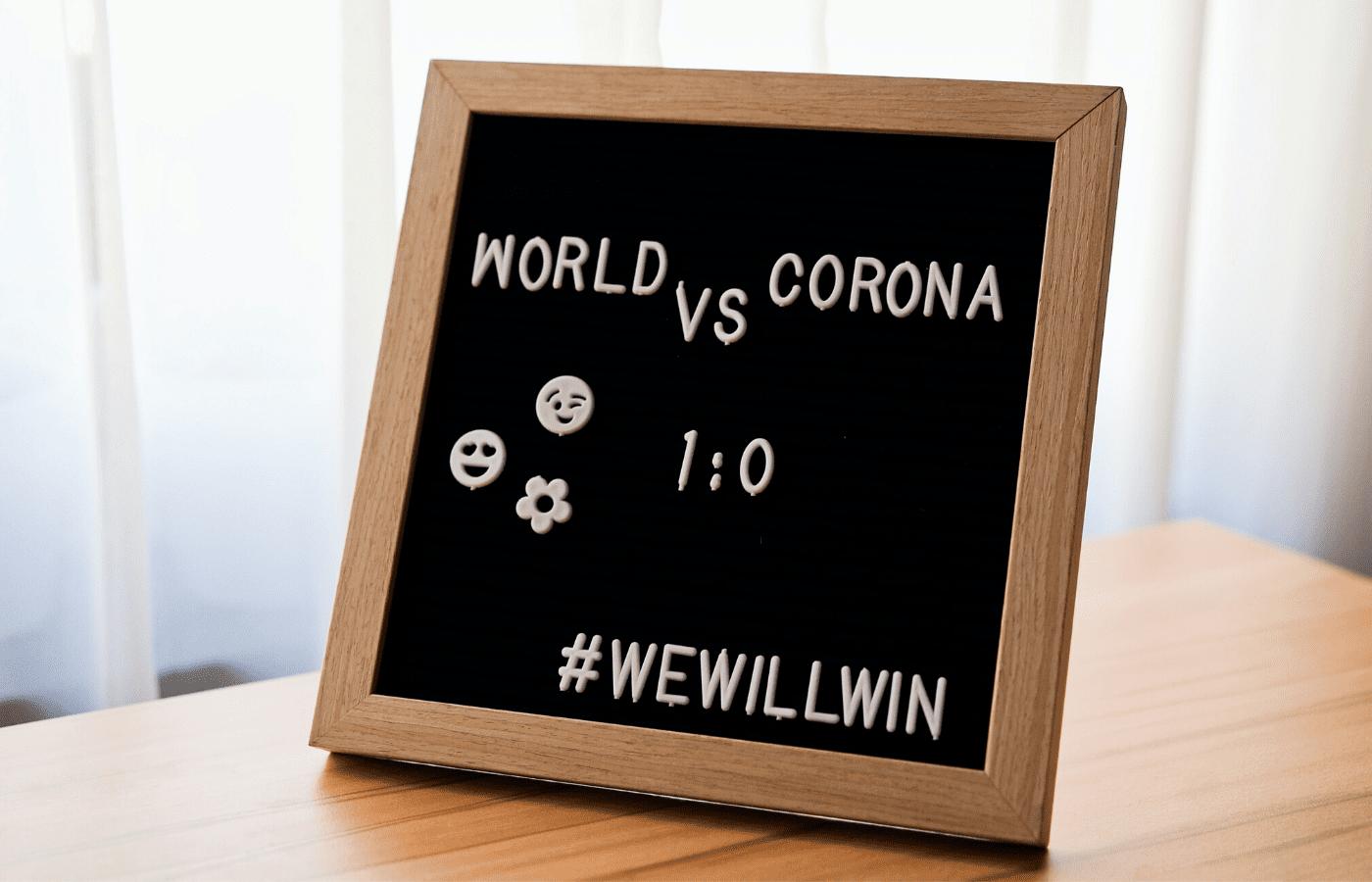 coronavirus signboard