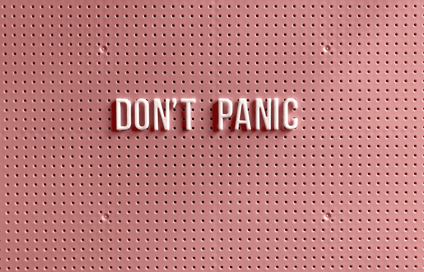 don't panic sign   stay calm