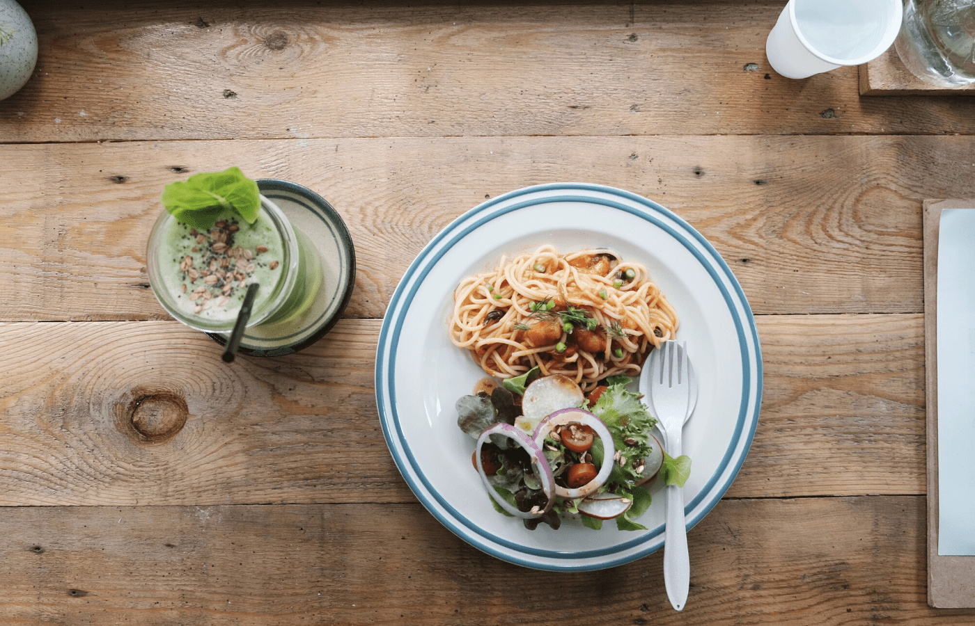 pasta on table | Alternative food delivery platforms in Singapore