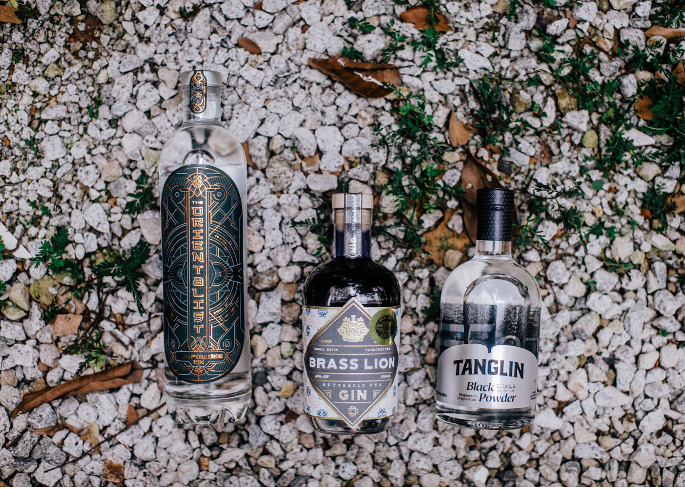 selects singapore gin bottles