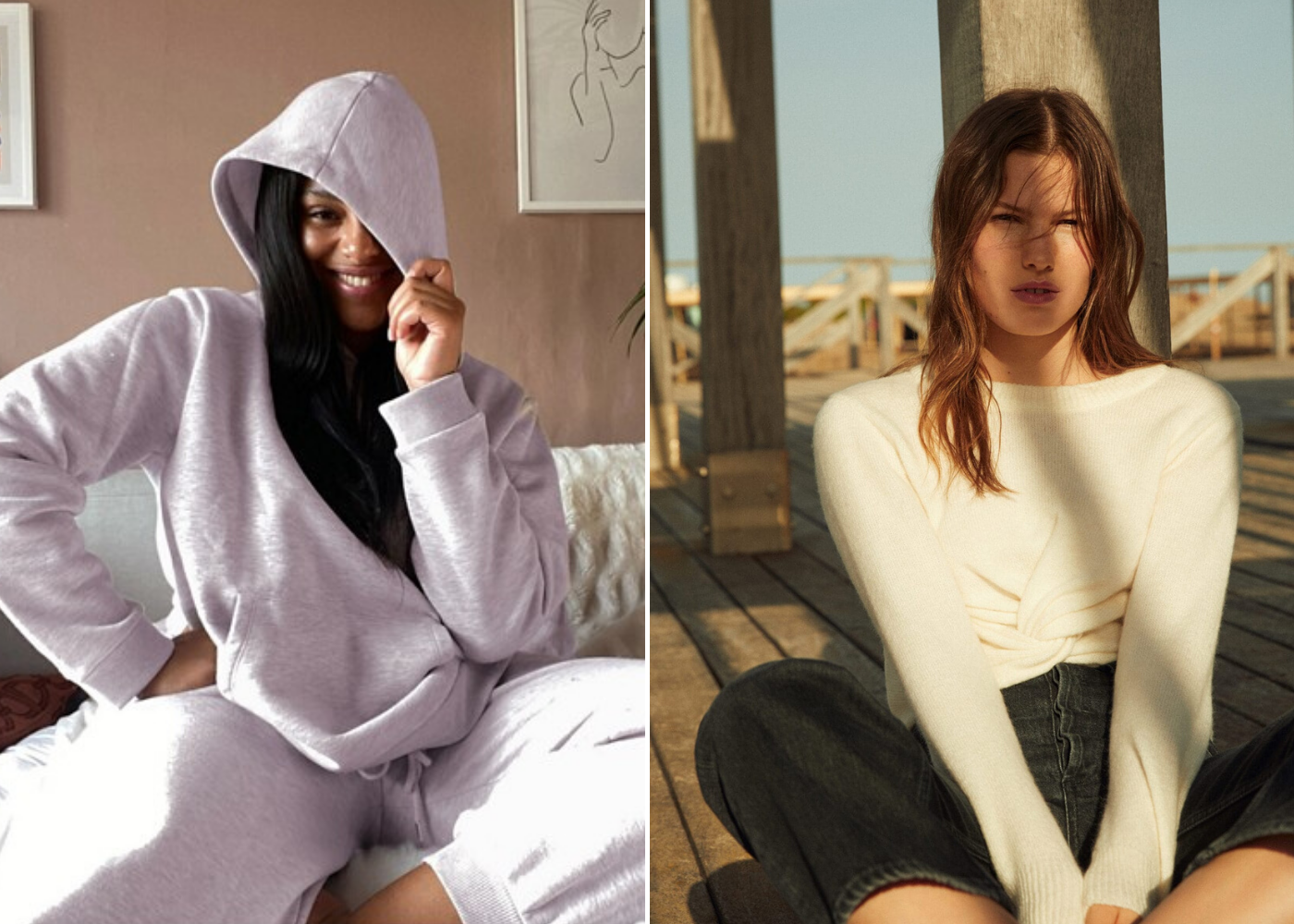 sweater | Stay-in outfits for lounging around the house