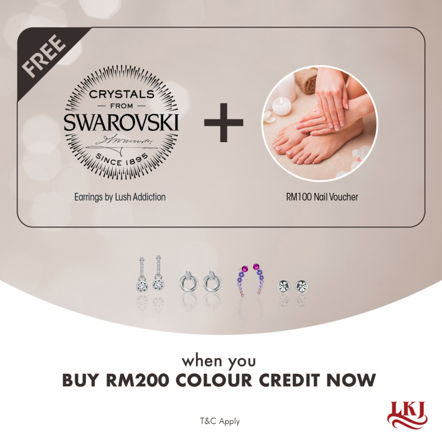 Buy $100 hair colour credit, get 2 free items