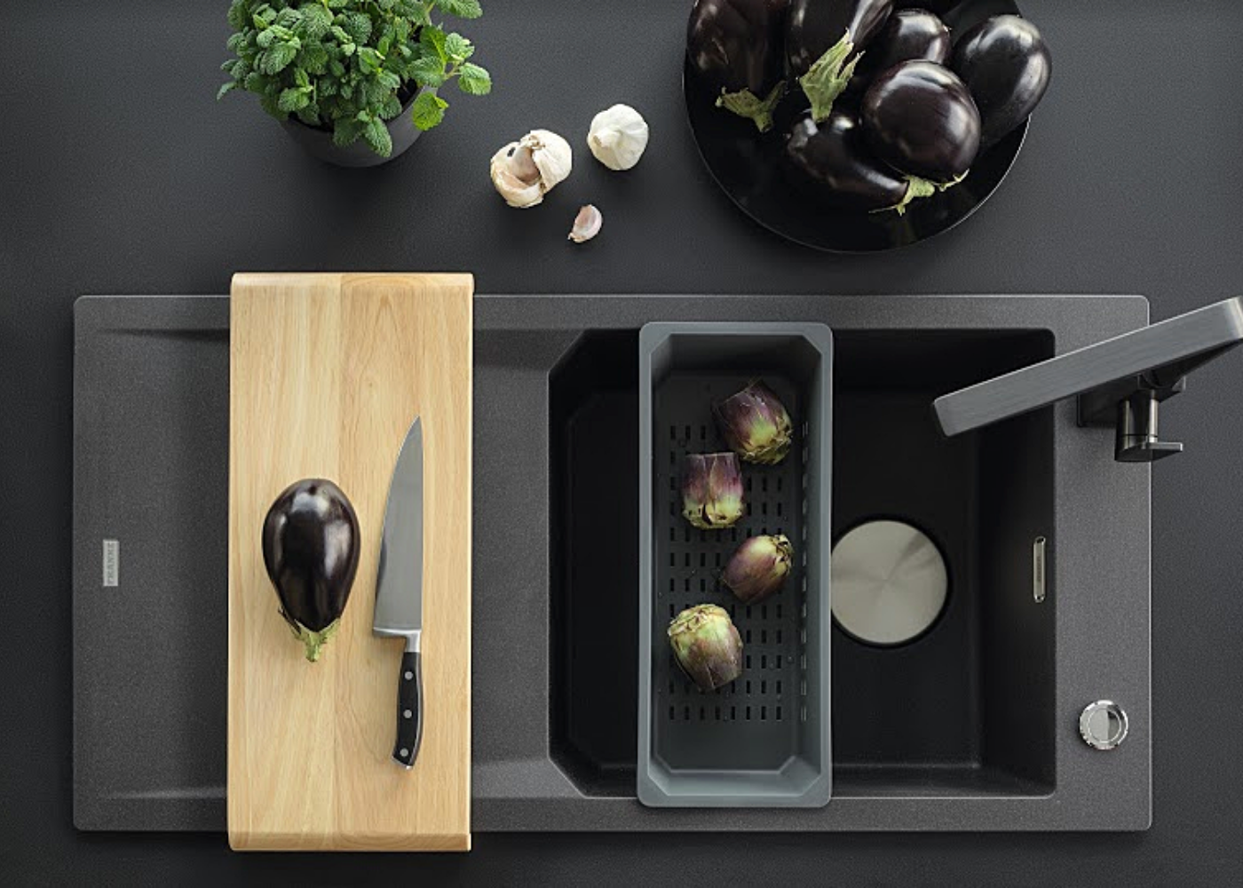 We found a germ-proof kitchen sink that's gorgeous too!